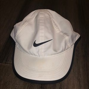 A white nike sports hat